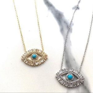 Jewelry - 🆕 'Reina' evil eye necklace Gold